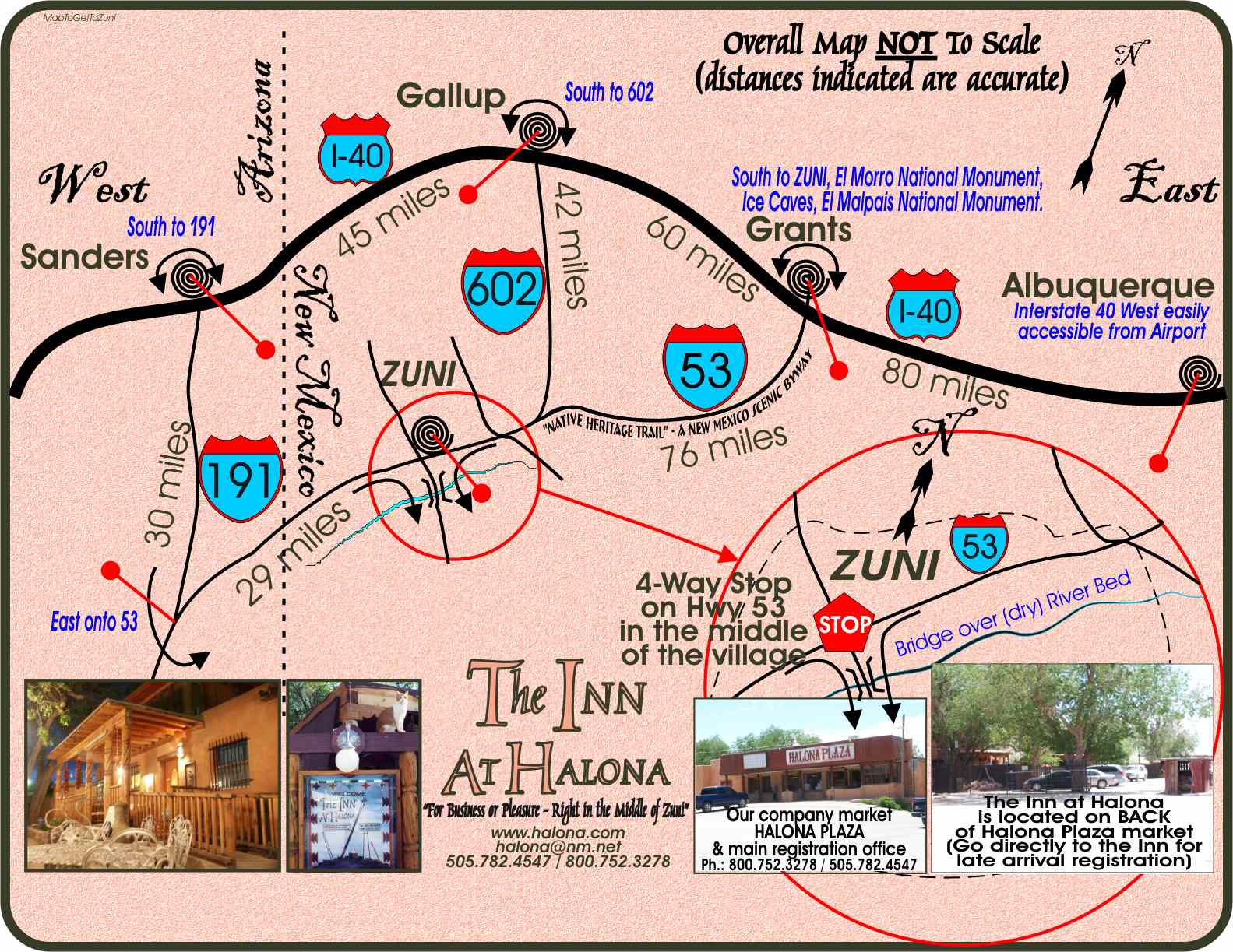 Map To Get To Zuni